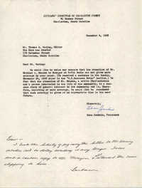 Letter from Esau Jenkins to Thomas R. Waring, December 4, 1968