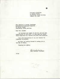 Letter from Esau Jenkins to Stanley H. Karesh, January 23, 1969