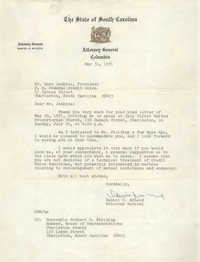 Letter from Daniel R. McLeod to Esau Jenkins, May 31, 1971