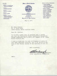 Letter from Robert B. Scarborough to Esau Jenkins, May 6, 1971