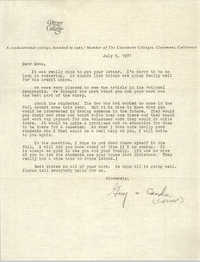 Letter from Guy and Candie Carawan to Esau Jenkins, July 6, 1971