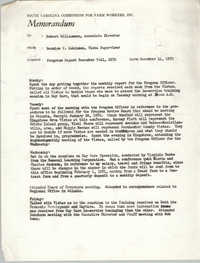 Memorandum from Bernice V. Robinson to Robert Williamson, December 14, 1970