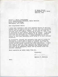 Letter from Bernice Robinson to Mendel Davis, June 27, 1973