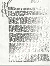 Letter from Bernice Robinson to Myles Horton, June 25, 1961