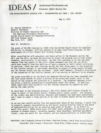 Letter from Bernice Robinson to Wesley Hotchkiss, May 3, 1973