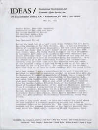 Letter from Bernice Robinson to Woodie White, May 21, 1973