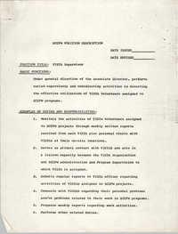 South Carolina Commission for Farm Workers Position Description, VISTA Supervisor
