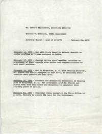 VISTA Activity Report, Week of February 16, 1970