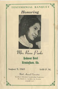 Southern Christian Leadership Conference, Ninth Annual Convention, Testimonial Honoring Mrs. Rosa Parks