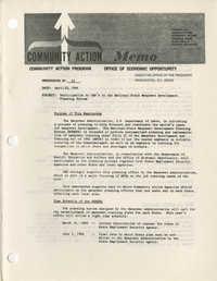 Community Action Program Memorandum No. 33
