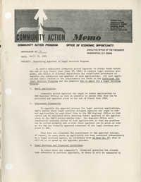 Community Action Program Memorandum No. 34