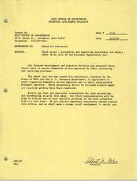 Ohio Office of Opportunity Technical Assistance Bulletin, Memorandum 11-A