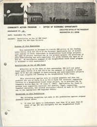 Community Action Program Memorandum No. 48