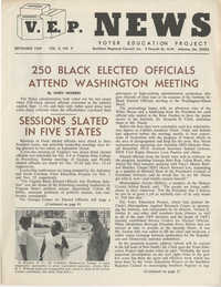 Voter Education Project News, Volume 3, Number 9
