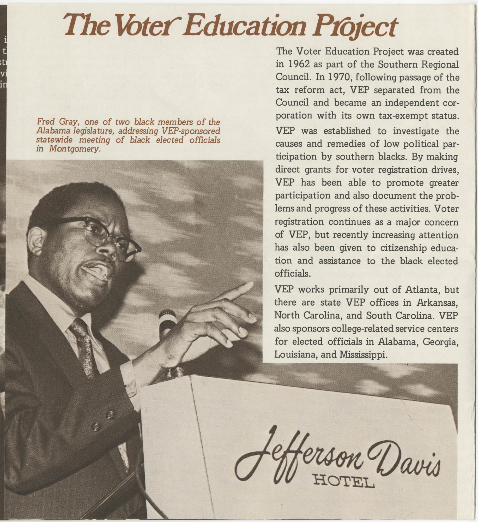 The Voter Education Project