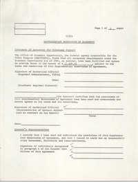 VISTA Supplementary Memorandum of Agreement