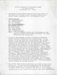 Citizen Committee of Charleston County, Minutes, December 4, 1975