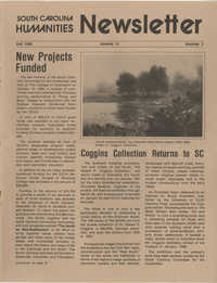 South Carolina Humanities Newsletter, Fall 1985, Volume 11, Number 3