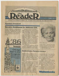 The Reader, Volume 8, Number 2, May 1986
