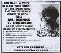 Bernice Robinson Political Advertisement