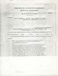 South Carolina Commission for Farm Workers, Inc. Certificate of Incorporation