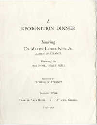 A Recognition Dinner Honoring Dr. Martin Luther King, Jr.
