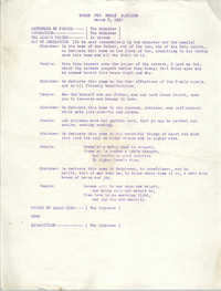 Order for House Blessing, March 5, 1967