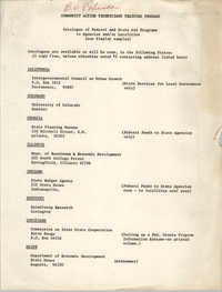 Catalogue of Federal and State Aid Programs
