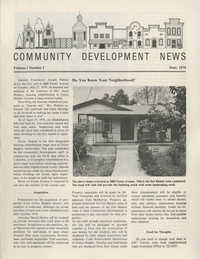 Community Development News, Volume I, Number I