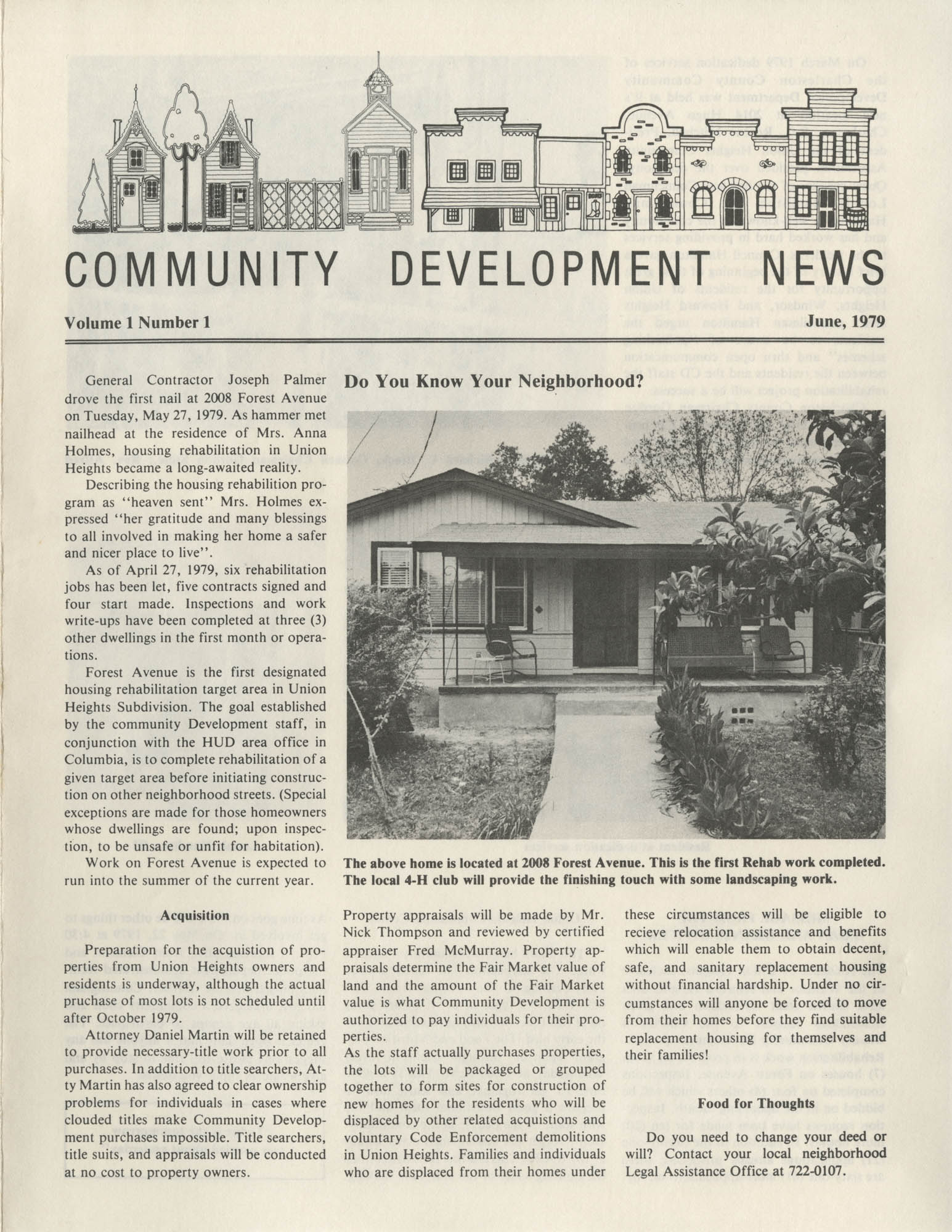 Community Development News, Volume I, Number I