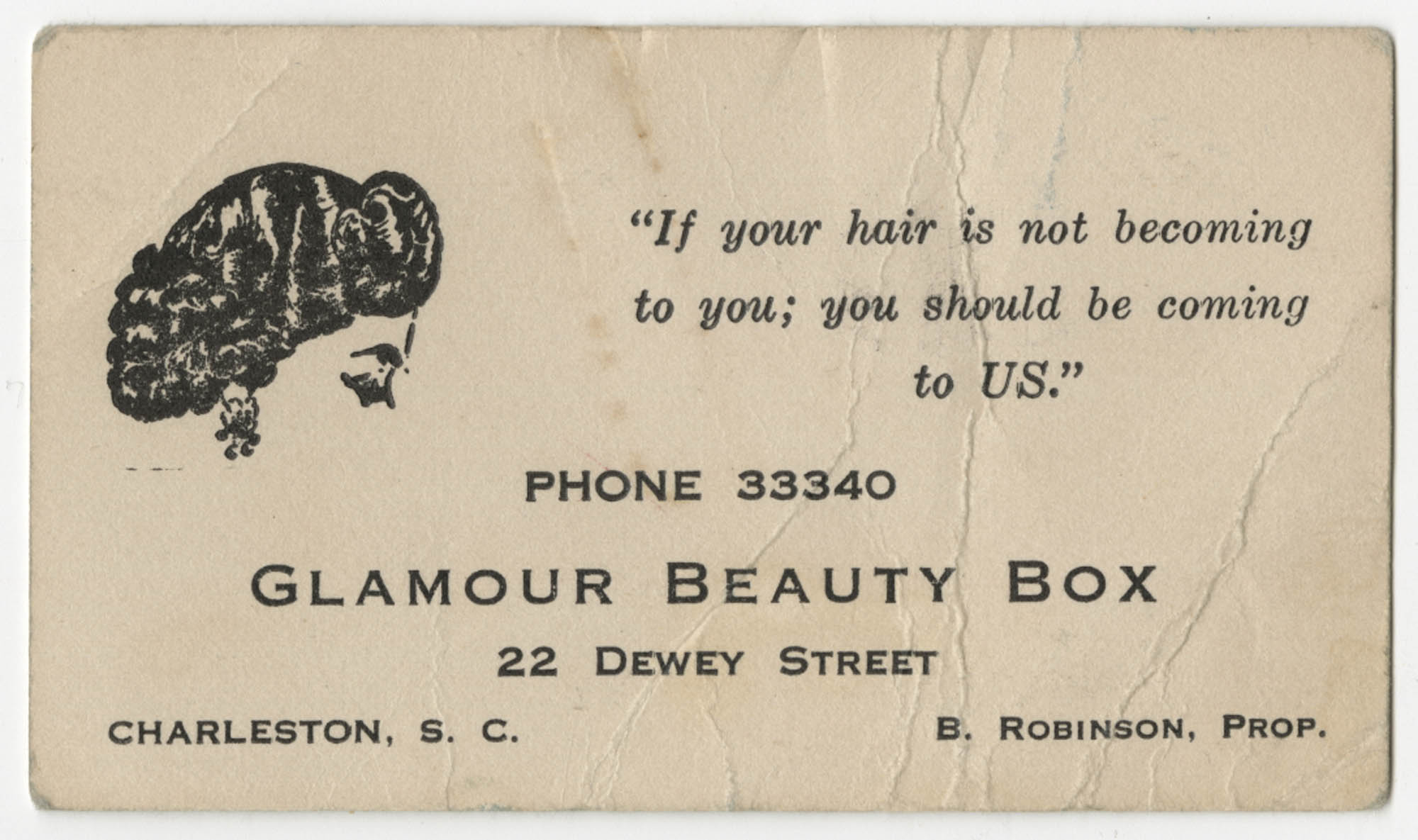 Bernice Robinson Cosmologist Business Card
