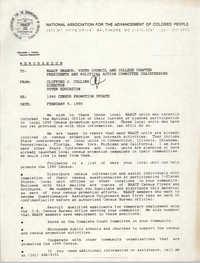 NAACP Memorandum, February 9, 1990