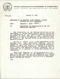 NAACP Memorandum, January 31, 1990