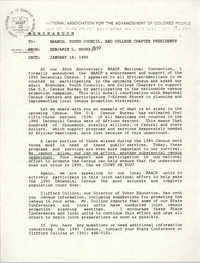 NAACP Memorandum, January 18, 1990