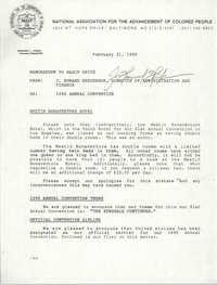 NAACP Memorandum, February 21, 1990