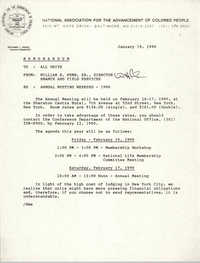 NAACP Memorandum, January 19, 1990