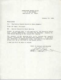 Charleston Branch of the NAACP Memorandum, January 23, 1990
