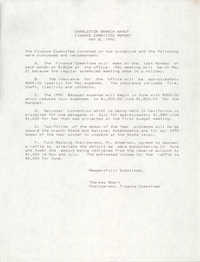 Charleston Branch of the NAACP Finance Committee Report, May 8, 1990