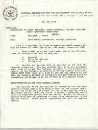 NAACP Memorandum, May 30, 1989