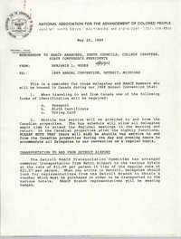 NAACP Memorandum, May 25, 1989
