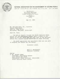 NAACP Memorandum, May 19, 1989