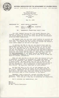 NAACP Memorandum, May 31, 1989