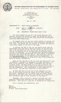 NAACP Memorandum, May 31, 1989