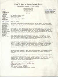 NAACP Special Contribution Fund Memorandum, September 17, 1982
