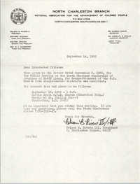 North Charleston Branch of the NAACP Memorandum, September 14, 1982
