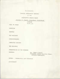Agenda, General Membership Meeting of the Charleston Branch of the NAACP, June 29, 1983