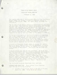 Minutes, Charleston Branch of the NAACP Executive Board Meeting, February 8, 1989