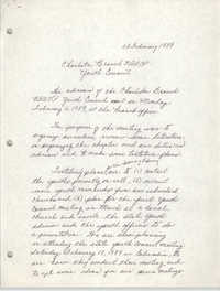 Minutes, Charleston Branch of the NAACP Youth Council, February 8, 1989