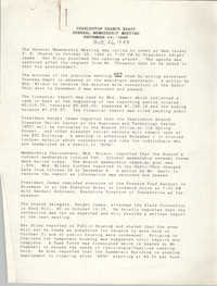 Minutes, Charleston Branch of the NAACP General Membership Meeting, October 26, 1989