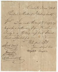 Elizabeth Campbell's Petition Letter to the St. Andrew's Society